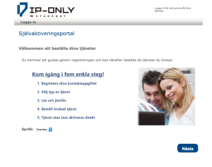 IP-Only Portal sida 1